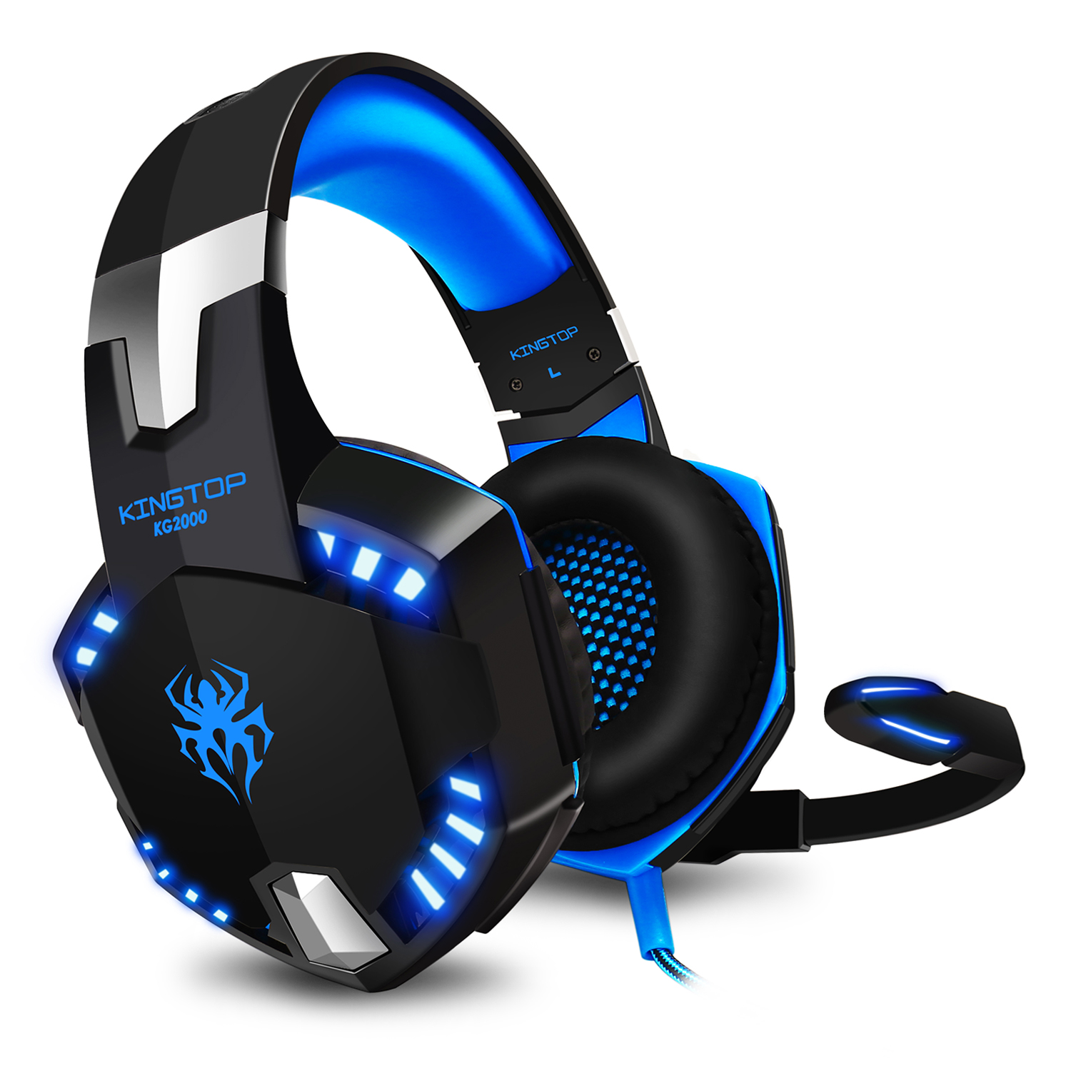 KINGTOP Gaming Headset PS4 KG2000 Wired Stereo Gamer Headphones