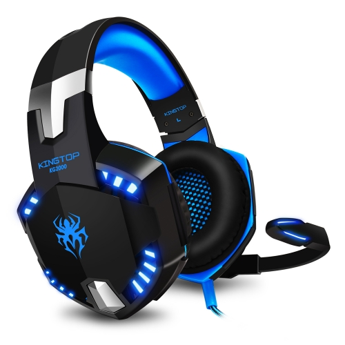 Gaming Headset PS4 KINGTOP KG2000 Wired Stereo Gamer Headphones with Mic Bass LED Light Volume Control for PlayStation 4 Xbox One S Nintendo Switch PC