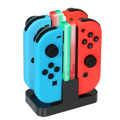 Charging Dock For Nintendo Switch Joy-Con Controllers KINGTOP 4 in 1 Joy-Con Charger Station with Individual LEDs indication